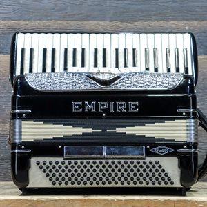 EMPIRE THE 600 / 120-BASS 41-KEY 7-TREBLE SWITCH BLACK PIANO ACCORDION AVEC ÉTUI RIGIDE