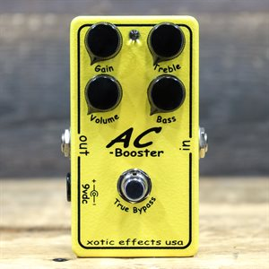 XOTIC EFFECTS AC BOOSTER SUPER WIDE RANGE GAIN CONTROL OVERDRIVE