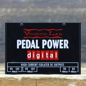 VOODOO LAB PEDAL POWER DIGITAL FOUR 9V ISOLATED HIGH-CURRENT POWER SUPPLY W/BOX