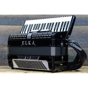 ELKA MODEL 410 - 120-BASS 41-KEY 7-TREBLE SWITCH BLACK W/CASE