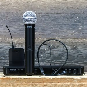 SHURE BLX1288/P31-H9 WIRELESS COMBO SYSTEM WITH PG58 HANDHELD AND PGA31 HEADSET AVEC BOITE #3QF1917303