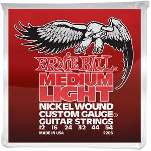 ERNIE BALL 2206 MEDIUM LIGHT NICKEL WOUND W/WOUND G - 12-54