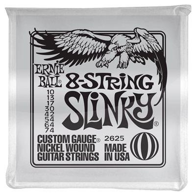 ERNIE BALL 2625 SLINKY 8-STRING NICKEL WOUND - 10-74