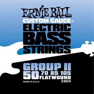 ERNIE BALL 2804 FLATWOUND GROUP II - 50-105