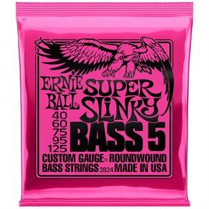 ERNIE BALL 2824 SUPER SLINKY 5-STRING NICKEL WOUND - 40-125