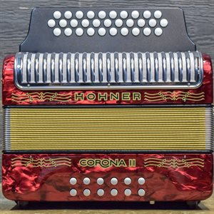HOHNER CORONA II SOL—DO-FA RED GIGBAG