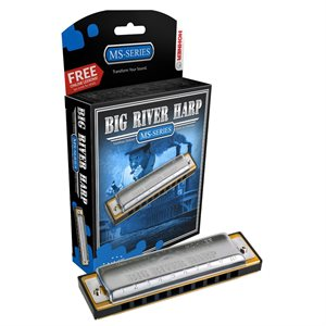HOHNER BIG RIVER HARP 590BX-A DIATONIQUE, CLÉ DE A
