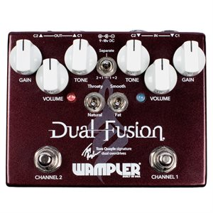 WAMPLER PEDALS DUAL FUSION TOM QUAYLE SIG. DUAL OVERDRIVE