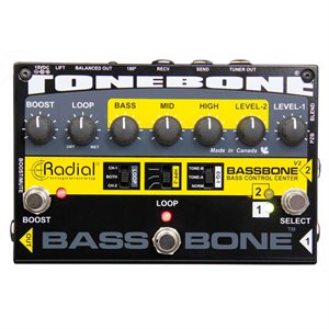 RADIAL ENGINEERING TONEBONE BASSBONE V2 BASS PREAMP & DI BOX R800 7071 00