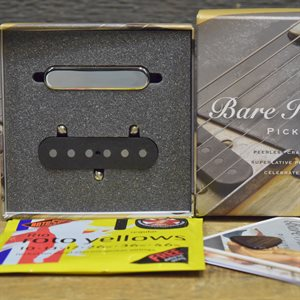 BARE KNUCKLE BLACKGUARD FLAT '50 TELE SET, NICKEL, STOCK POLARITY
