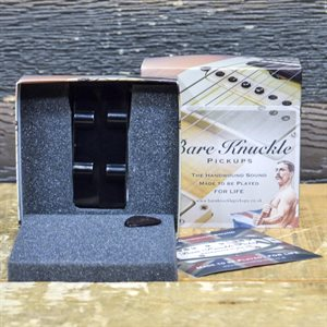 BARE KNUCKLE '60 HF J-BASS SERIES PICKUP SET SINGLE COIL 4-STRING BLACK COVERS
