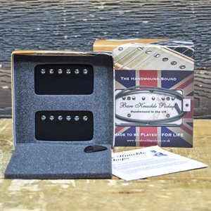 BARE KNUCKLE CRAWLER HUMBUCKER SET 6-STRING STANDARD SPACING BLACK COVERS