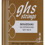 GHS BZ-8 SILVERWOUND BOUZOUKI STRINGS, FULL SET