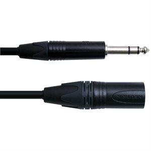 DIGIFLEX CXMS-15-BLACK XLRM TO 1/4 TRS, 15 PIEDS