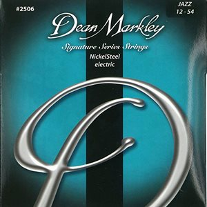 DEAN MARKLEY DM2506 SIGNATURE SERIES NICKELSTEEL ELECTRIC GUITAR STRINGS, JAZZ, 12-54 GAUGE, 6-STRING SET