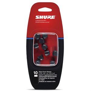 SHURE EABKF1-10S PETIT EMBOUT 5 PAIRES (NOIR)