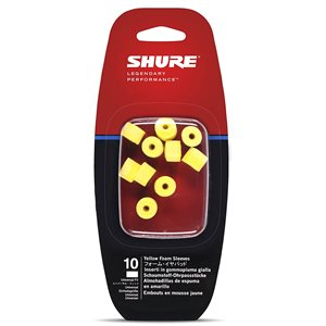 SHURE EAYLF1-10 FOAM SLEEVES 5 PAIR (YELLOW)