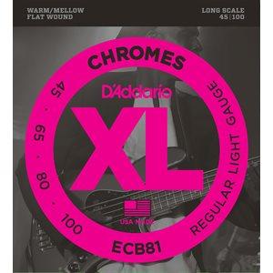 D'ADDARIO ECB81 CHROMES BASS, LIGHT, 45-100, LONG SCALE