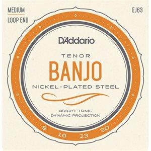 D'ADDARIO EJ63 TENOR BANJO, NICKEL, 9-30