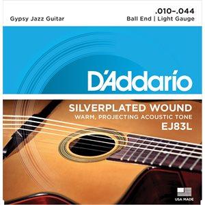 D'ADDARIO EJ83L GYPSY JAZZ, BALL END, LIGHT, 10-44
