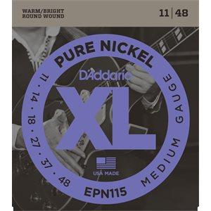 D'ADDARIO EPN115 PURE NICKEL, BLUES/JAZZ ROCK, 11-48