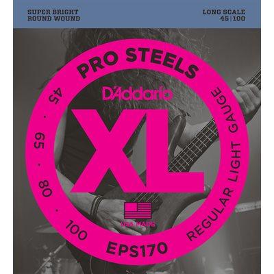 D'ADDARIO EPS170 PROSTEELS BASS, LIGHT, 45-100, LONG SCALE