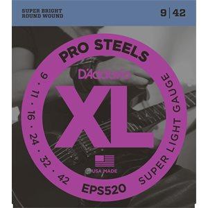 D'ADDARIO EPS520 PROSTEELS, SUPER LIGHT, 09-42