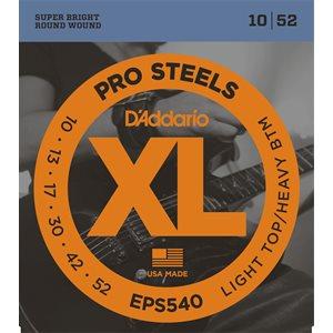 D'ADDARIO EPS540 PROSTEELS, LIGHT TOP/HEAVY BOTTOM, 10-52