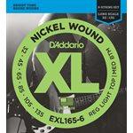 D'ADDARIO EXL165-6 NICKEL WOUND 6 STRING BASS, CUSTOM LIGHT, 32-135, LONG SCALE