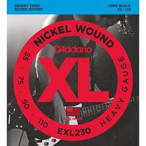 D'ADDARIO EXL230 NICKEL WOUND BASS, HEAVY, 55-110, LONG SCALE