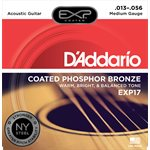 D'ADDARIO EXP17 COATED PHOSPHOR ACOUSTIC GUITAR, MEDIUM, 13-56