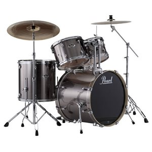 PEARL EXX725SC21 EXPORT EXX 5-PIECE SMOKEY CHROME W/HWP830 HARDWARE PACK (2218BD, 1007T, 1208, 1616FT, 1455SD)