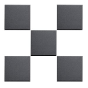 PRIMACOUSTIC F121-1212-00 BROADWAY 12X12X1 SCATTER BLOCKS, BLACK - 24 UNITÉS