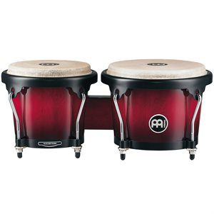 MEINL HEADLINER WOOD BONGO 6 3/4+8 WINE RED BURST HB100WRB
