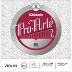 D'ADDARIO PRO-ARTE VIOLIN STRING SET, 1/2 SCALE, MEDIUM TENSION
