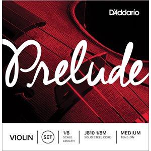 DADDARIO PRELUDE VIOLIN STRING SET, 1/8 SCALE, MEDIUM TENSION