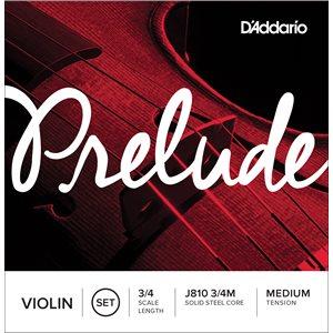 DADDARIO PRELUDE VIOLIN STRING SET, 3/4 SCALE, MEDIUM TENSION