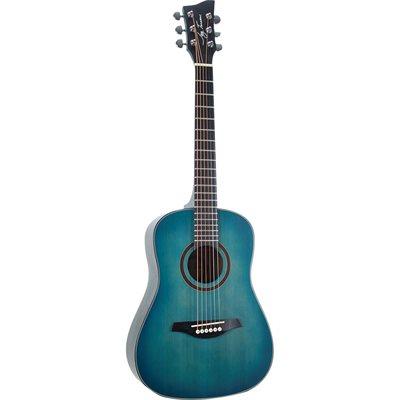 JAY TURSER JTA52-SBL 1/2 ACOUSTIC GUITAR, SATIN BLUE