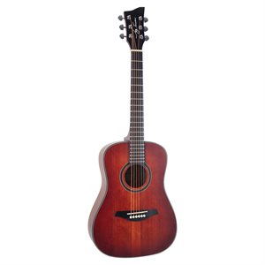 JAY TURSER JTA52-SRD 1/2 ACOUSTIC GUITAR, SATIN RED