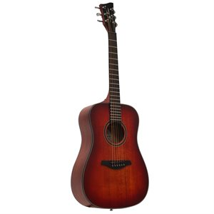 JAY TURSER JTA53-SRD 3/4 ACOUSTIC GUITAR, SATIN RED