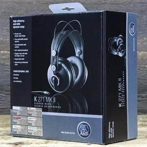 AKG K271 MKII OVER-EAR CLOSED-BACK PROFESSIONAL STUDIO HEADPHONES AVEC BOITE UT0034-184902