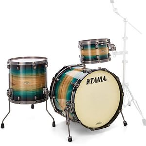 TAMA ME30CMUS-LEWB STARCLASSIC MAPLE 3 MORCEAUX EXOTIC EMERALD PACIFIC WALNUT BURST SMOKED BLACK NICKEL HARDWARE (2014BD, 1208T, 1414FT)
