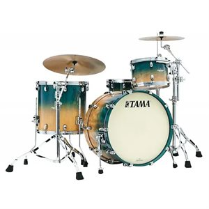 TAMA ME32CZUS-VOLM STARCLASSIC MAPLE 3 MORCEAUX EXOTIC OCEAN BLUE FADE MOVINGUI SMOKED BLACK NICKEL HARDWARE (2214BD, 1208T, 1616FT)
