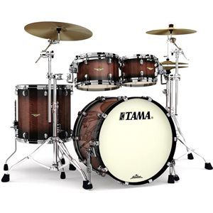 TAMA ME42TZBS-VTBV STARCLASSIC MAPLE 4-PIECE EXOTIC TOBACCO SUNBURST MOVINGUI BLACK NICKEL HARDWARE (2216BD, 1007T, 1208T, 1616FT)