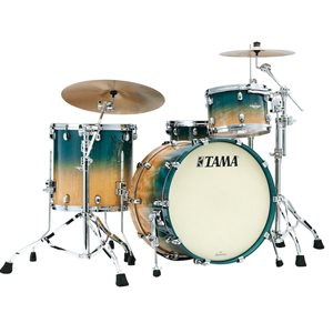 TAMA ME42TZS-VOLM STARCLASSIC MAPLE 4-PIECE EXOTIC OCEAN BLUE FADE MOVINGUI CHROME HARDWARE (2216BD, 1007T, 1208T, 1616FT)