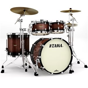 TAMA ME42TZS-VTBV STARCLASSIC MAPLE 4-PIECE EXOTIC TOBACCO SUNBURST MOVINGUI CHROME HARDWARE (2216BD, 1007T, 1208T, 1616FT)