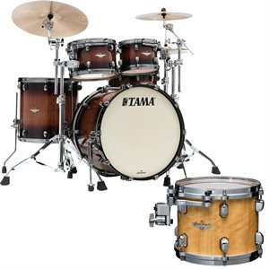 TAMA ME42TZUS-VGLM STARCLASSIC MAPLE 4 MORCEAUX EXOTIC GLOSS NATURAL MOVINGUI SMOKED BLACK NICKEL HARDWARE (2216BD, 1007T, 1208T, 1616FT)