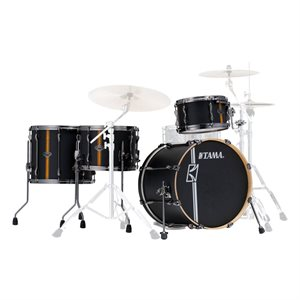 TAMA ML40HZBN2-FBV SUPERSTAR HYPER-DRIVE DUO 4-PIECE FLAT BLACK VERTICAL STRIPE (2016BD, 1207T, 1614FT, 1410SD)