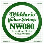 D'ADDARIO NW080 NICKEL WOUND ELECTRIC GUITAR SINGLE STRING .080