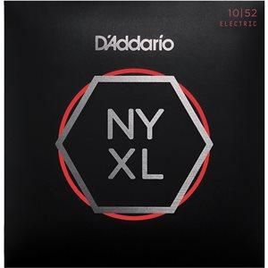 D'ADDARIO NYXL1052 NICKEL WOUND ELECTRIC GUITAR STRINGS, LIGHT TOP / HEAVY BOTTOM, 10-52